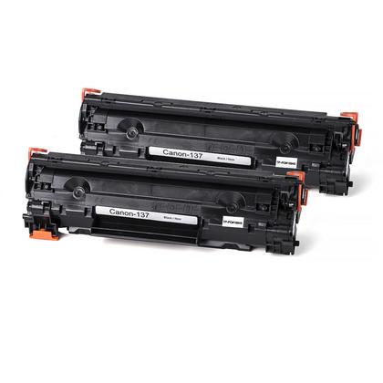 Compatible Canon 137 9435B001 cartouche de toner noire - boite economique - 2/paquet