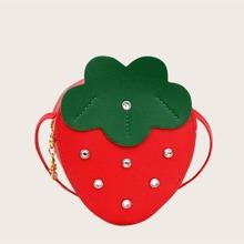 Girls Strawberry Design Crossbody Bag