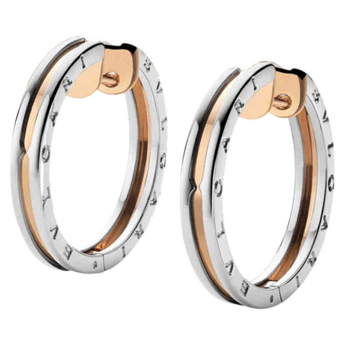Bvlgari B.Zero1 Silver gold and steel Earrings for Women \N