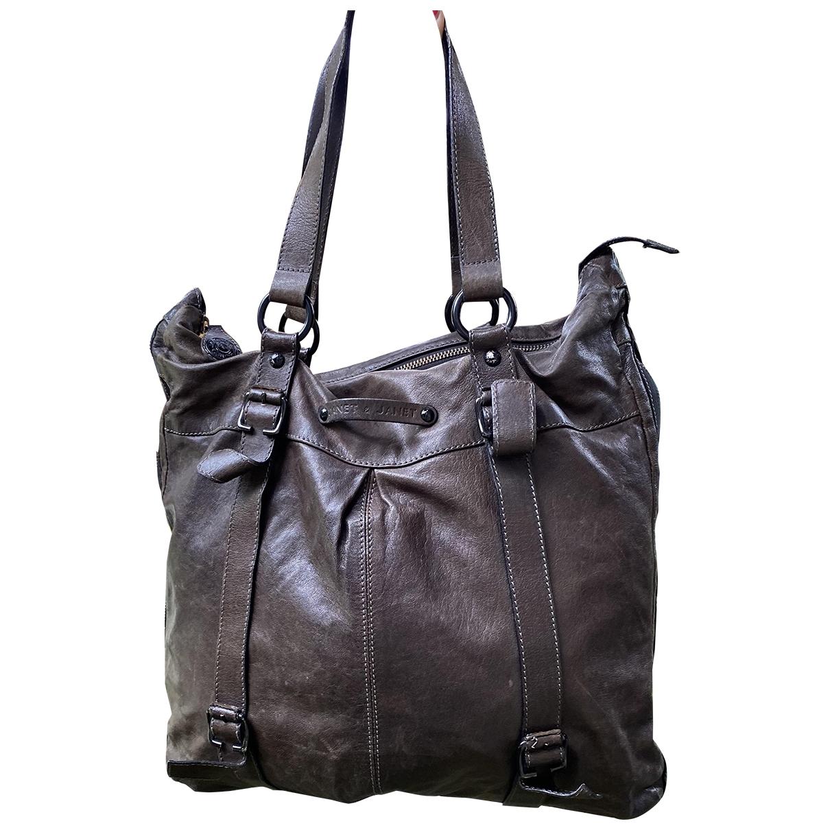 Janet & Janet \N Leather handbag for Women \N
