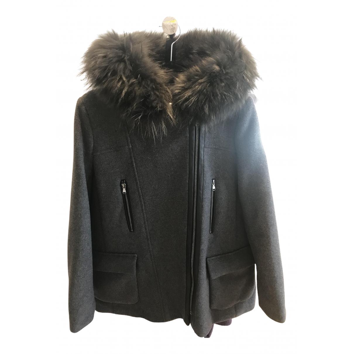 Zapa - Manteau   pour femme en laine - gris