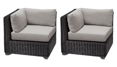 TKC050b-CS-DB-ASH Venice Corner Chair 2 Per Box - Wheat and Ash