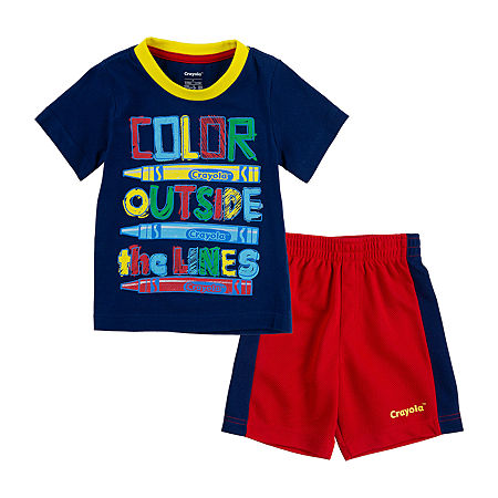 Crayola Baby Boys 2-pc. Short Set, 12 Months , Red