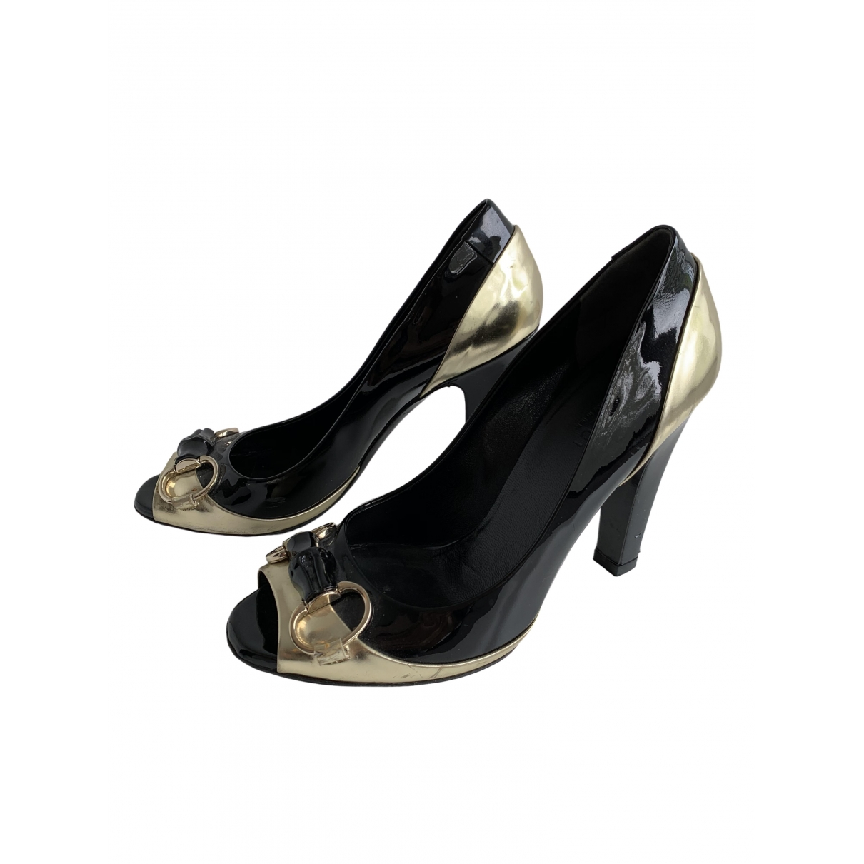 Gucci \N Black Patent leather Heels for Women 6.5 US