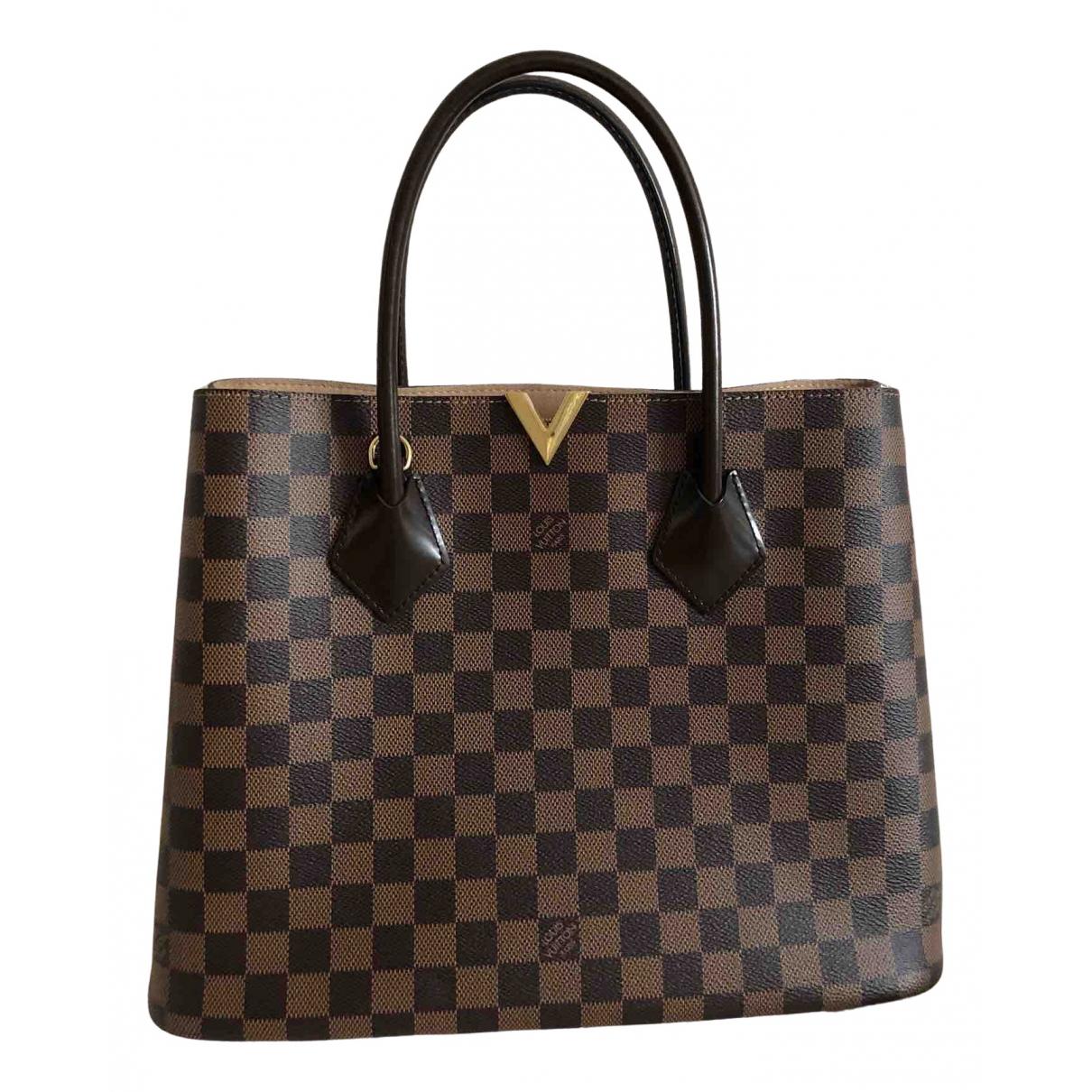 Louis Vuitton - Sac a main Kensington pour femme en toile - marron