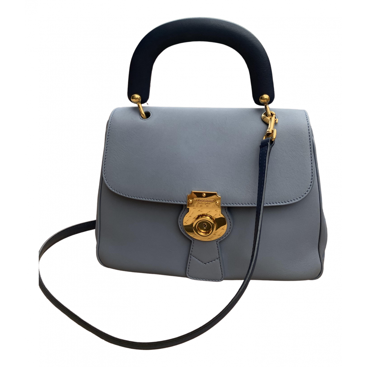 Burberry - Sac a main DK 88 pour femme en cuir - bleu