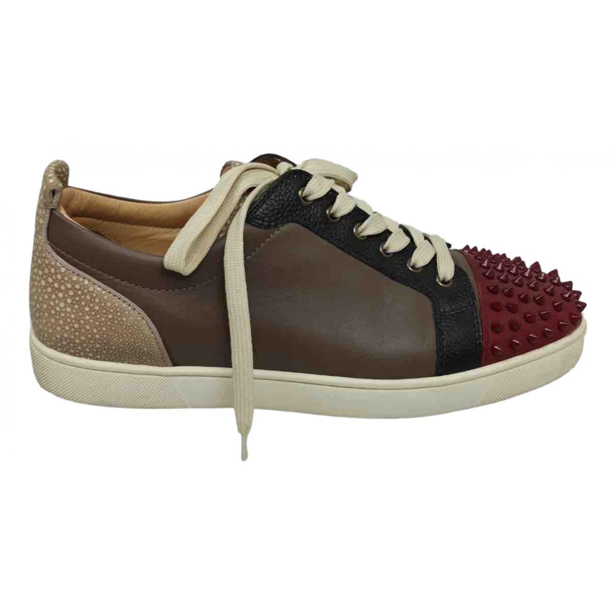 Christian Louboutin \N Sneakers in  Beige Leder