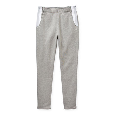 Xersion Cotton Fleece Little & Big Girls Tapered Jogger Pant, X-large (18.5) Plus , Gray