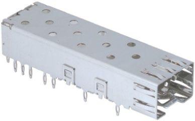 TE Connectivity SFP+ Series Single Port Port SFP Cage, Press-Fit Termination