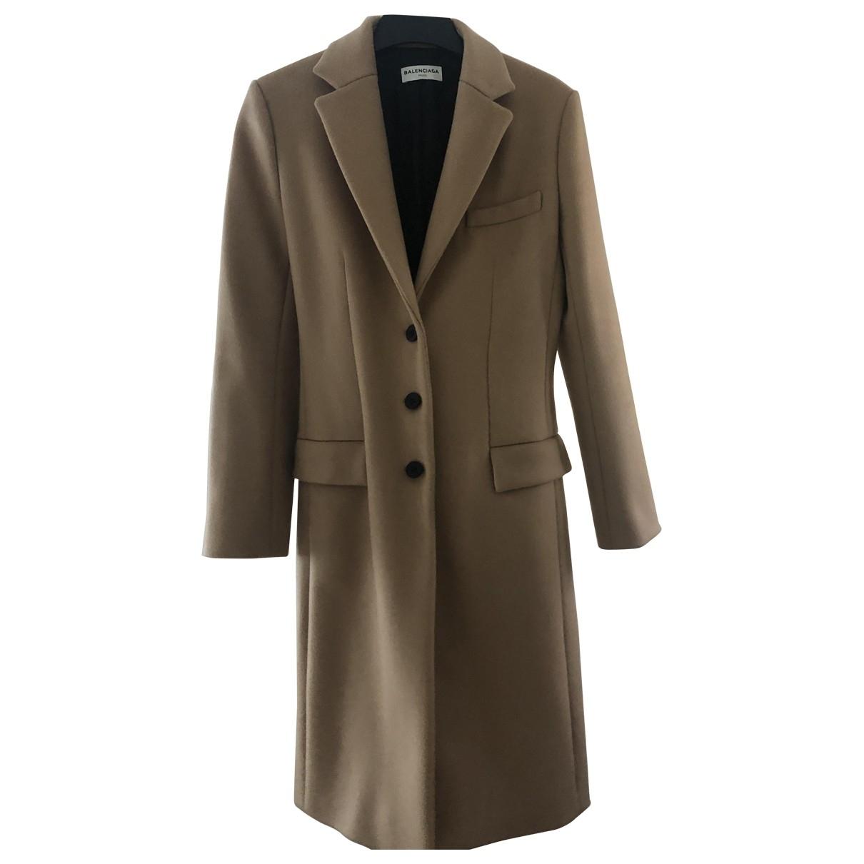 Balenciaga - Manteau   pour femme en laine - camel