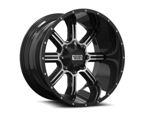 Twisted Off-Road T-21201061351397-12GBM T-21 Radar Wheel 20x10 6x135|6x139.7 -12mm Black Machined
