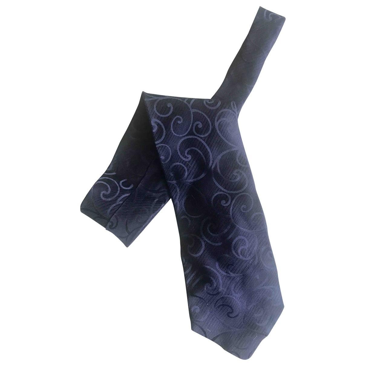 Giorgio Armani - Cravates   pour homme en soie - marine