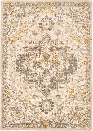 Tuscany TUS-2307 12' x 15' Rectangle Traditional Rugs in Metallic - Champagne  Cream  Burnt Orange  Dark Brown