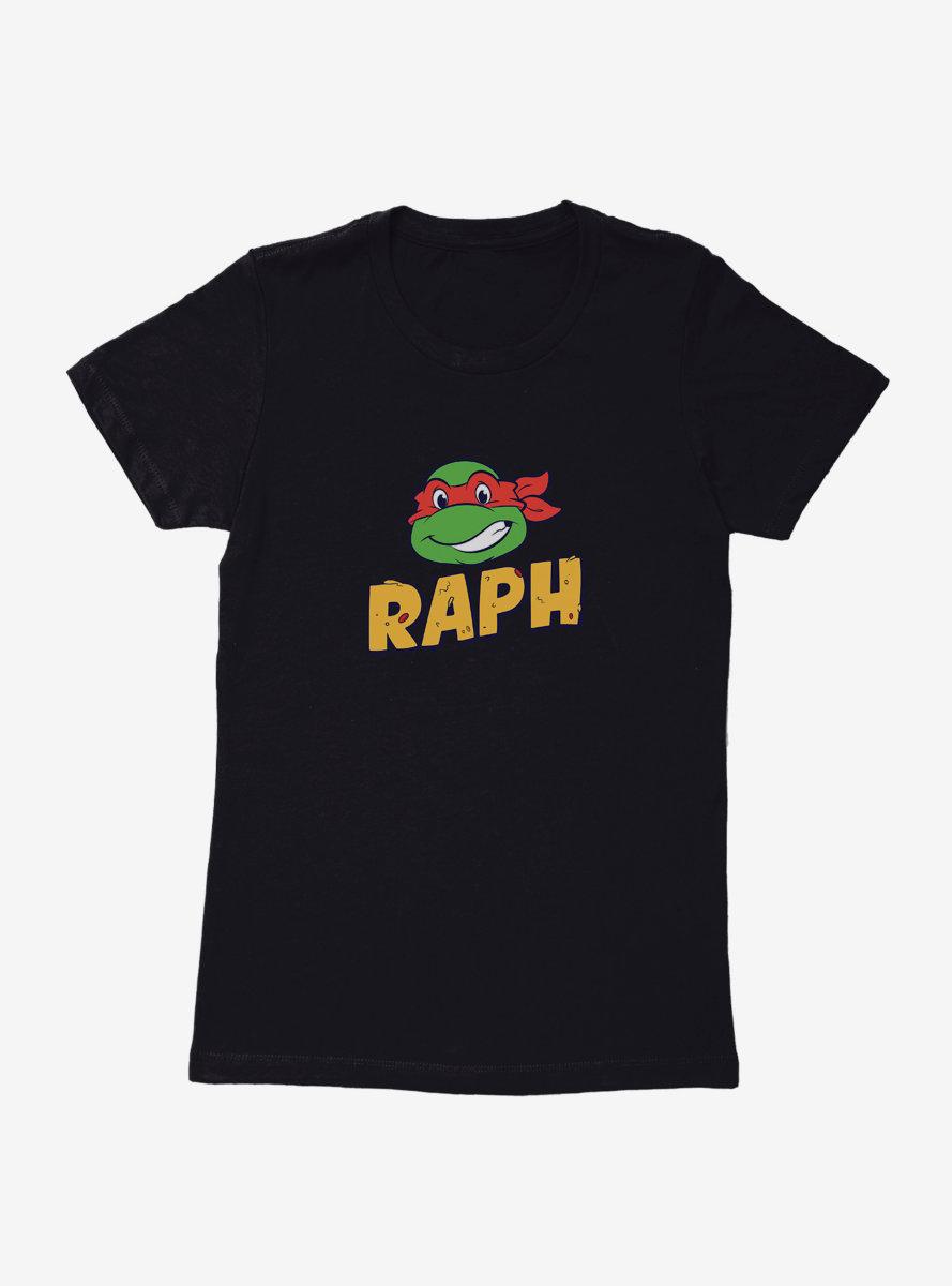 Teenage Mutant Ninja Turtles Raph Face Pizza Name Womens T-Shirt