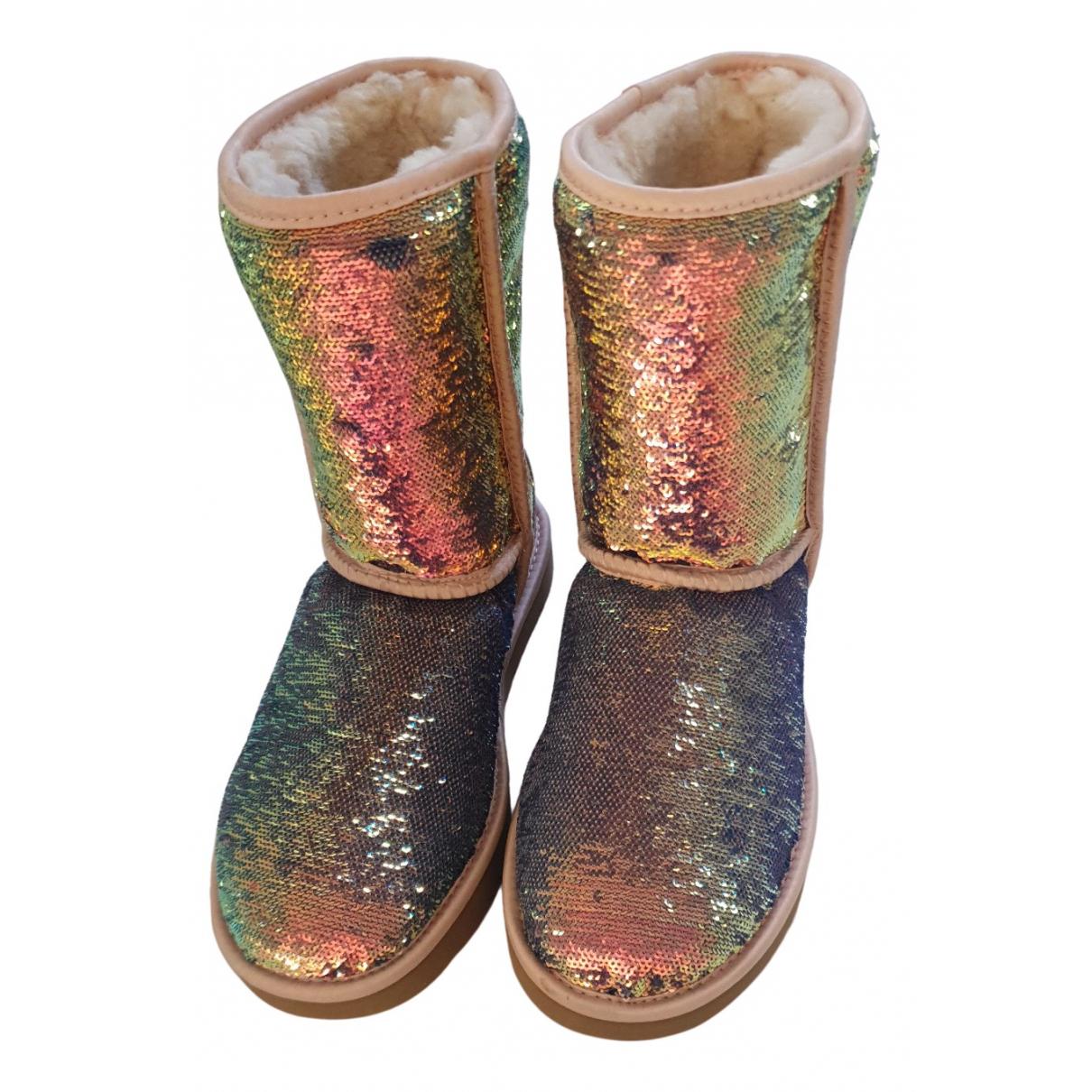Ugg - Bottes   pour femme en a paillettes - multicolore