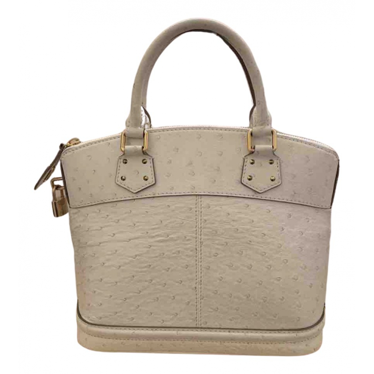Louis Vuitton Lockit White Ostrich handbag for Women N