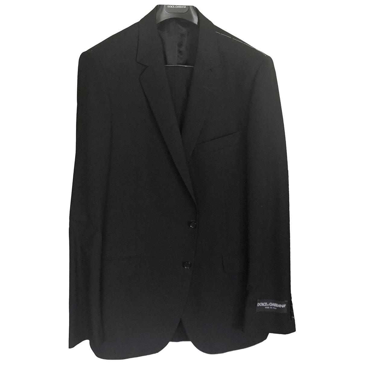 Dolce & Gabbana - Costumes   pour homme en laine - noir