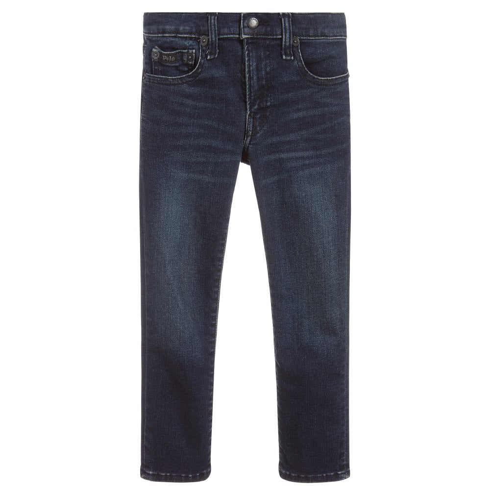 Ralph Lauren Skinny Denim Jeans Colour: BLUE, Size: 8 YEARS