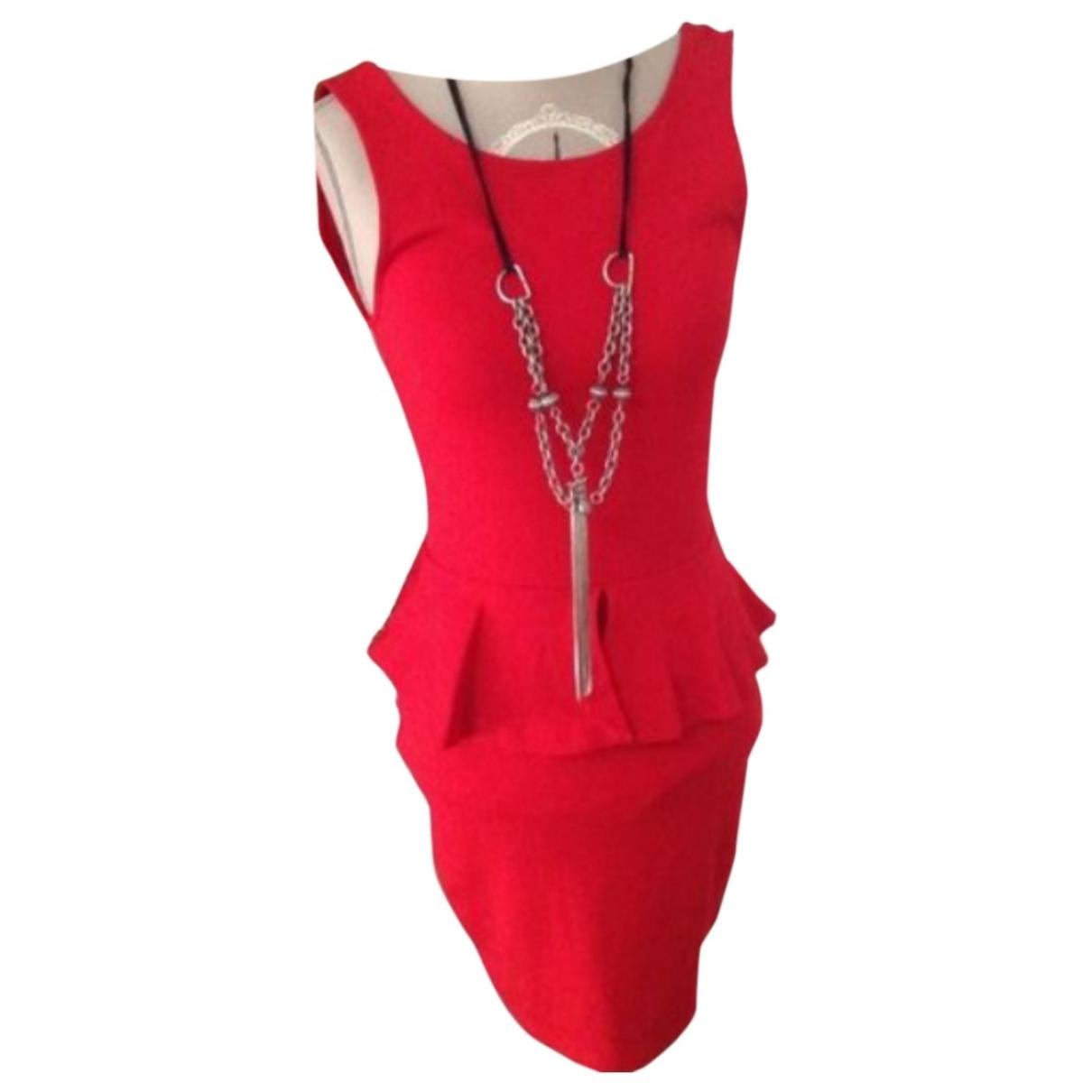 Zara \N Kleid in  Rot Viskose