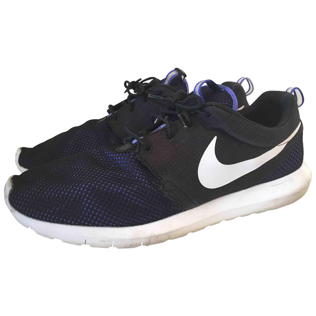 Nike - Baskets Roshe Run pour homme en toile - bleu