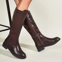 Side Zip Knee High Boots