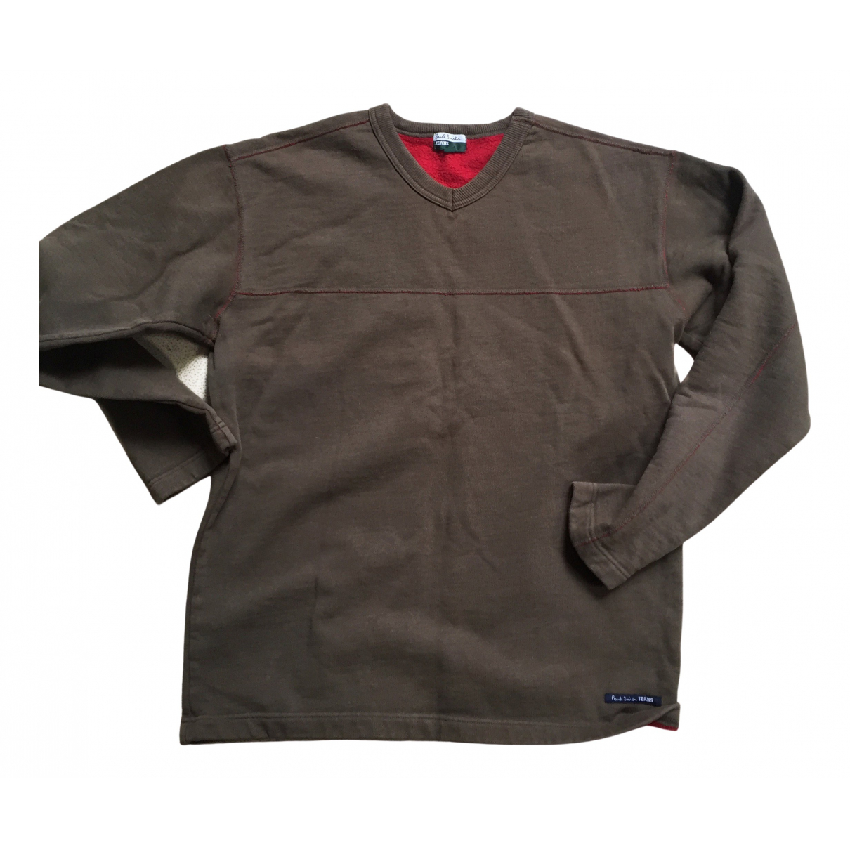 Paul Smith \N Pullover.Westen.Sweatshirts  in  Khaki Baumwolle