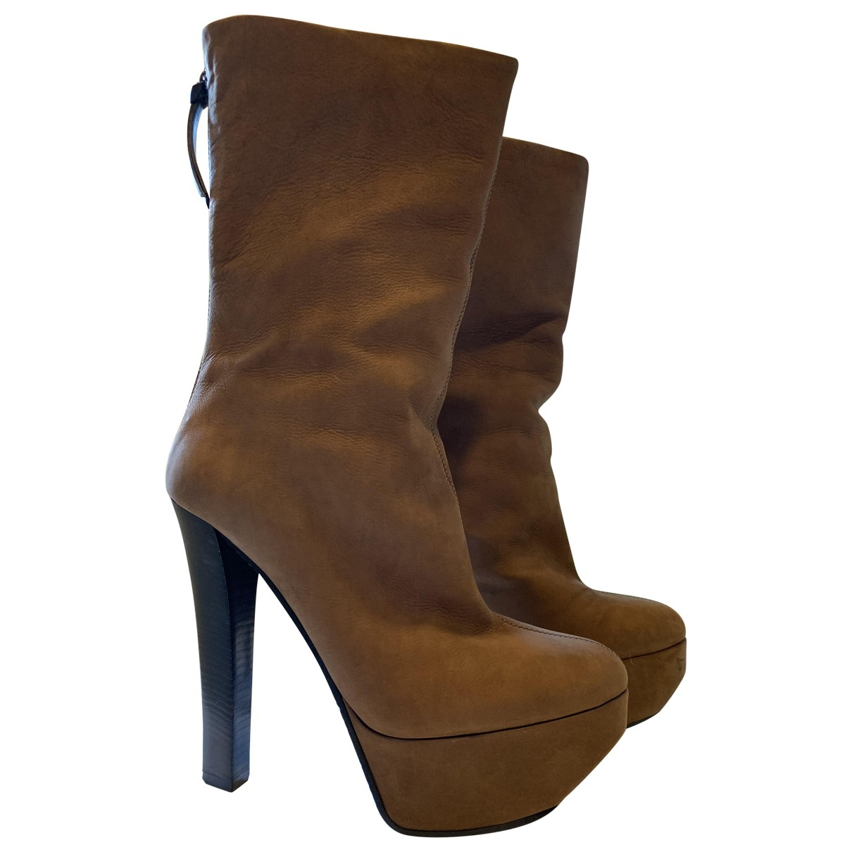 Giuseppe Zanotti \N Brown Leather Ankle boots for Women 36 EU