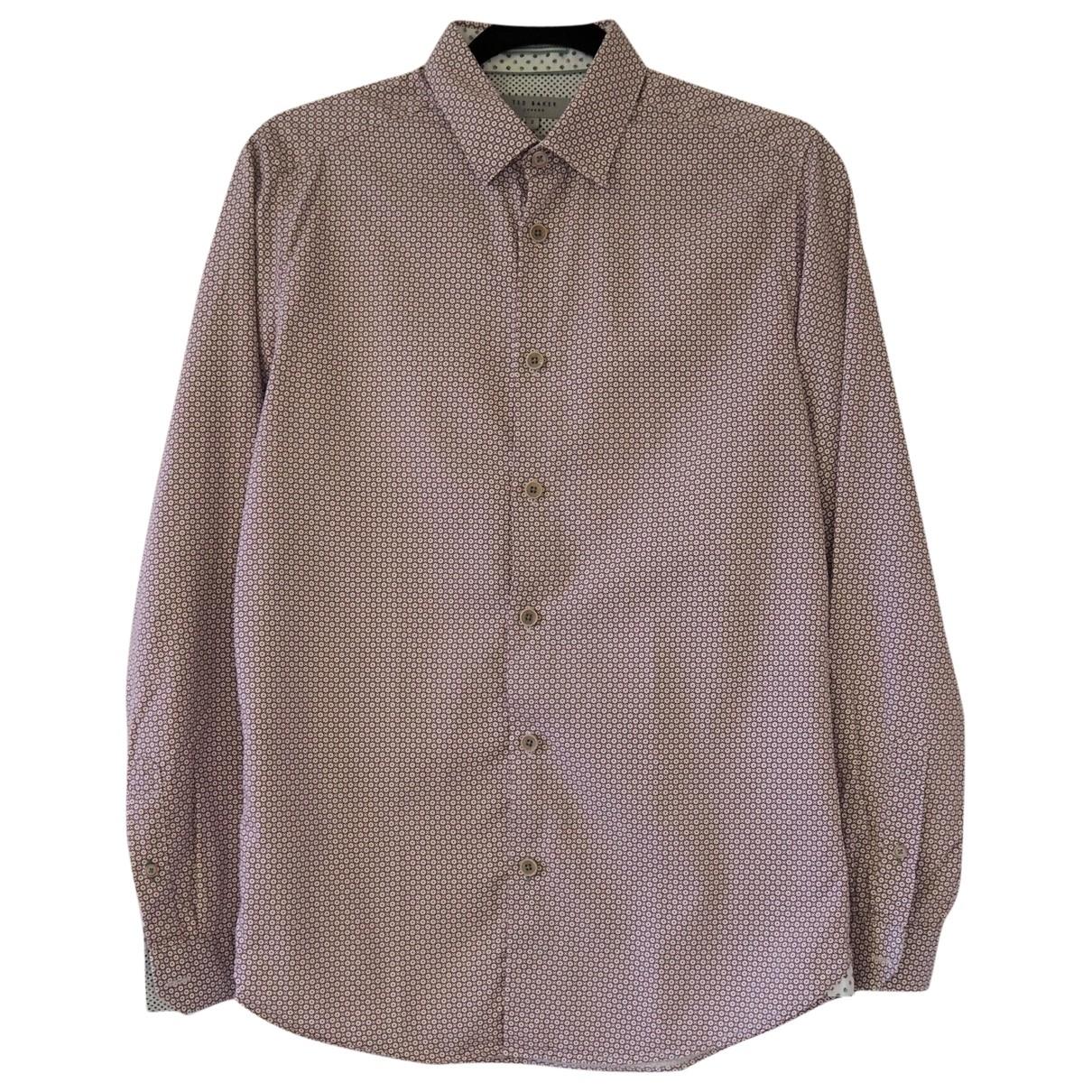 Ted Baker - Chemises   pour homme en coton - multicolore
