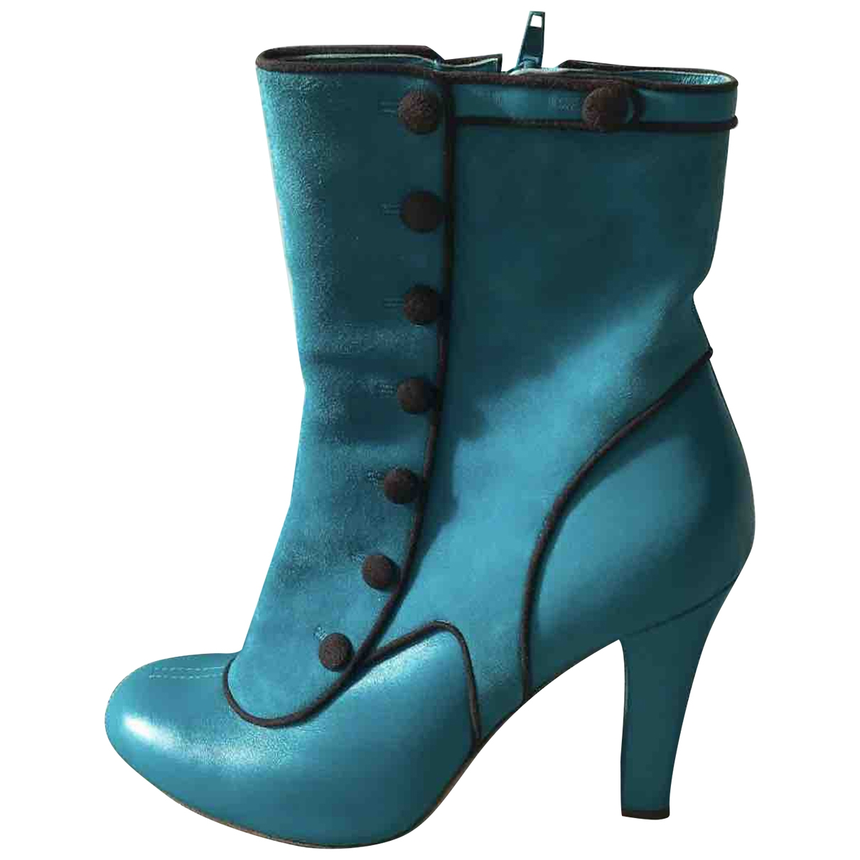 Kenzo \N Blue Suede Ankle boots for Women 40 EU