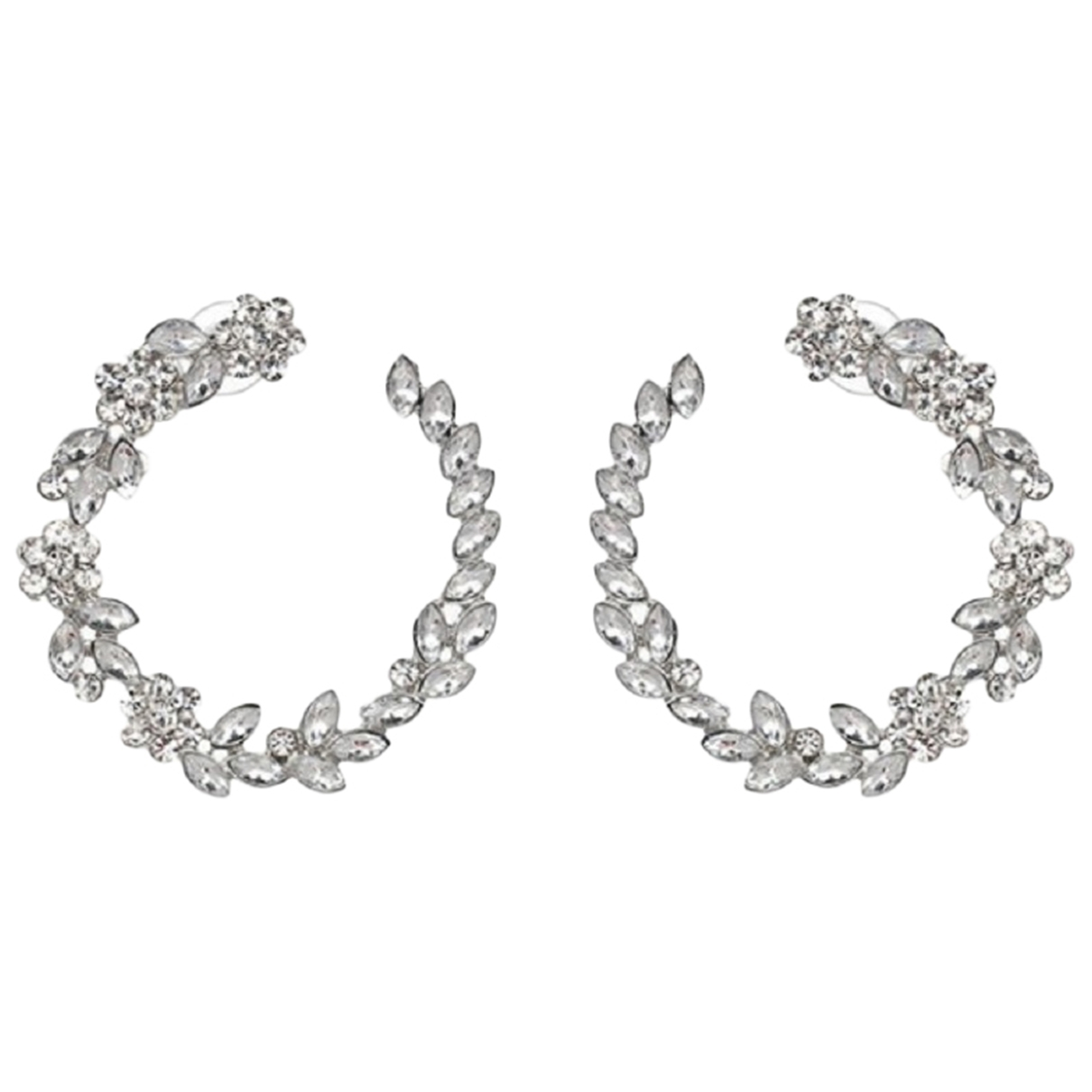 Non Signé / Unsigned Créoles Silver Metal Earrings for Women \N