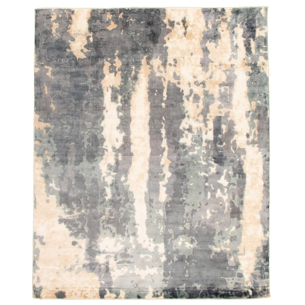 ECARPETGALLERY  Hand Loomed Galleria Grey Viscose Rug - 7'7 x 9'6 (Grey - 7'7 x 9'6)