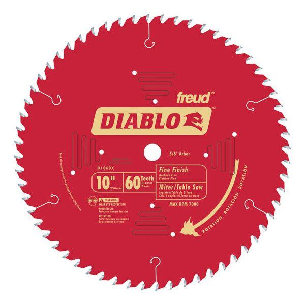 D1060X Diablo Fine Finish Blade, 10