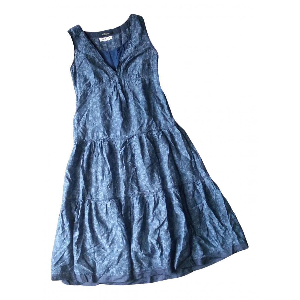 Max Mara Weekend - Robe   pour femme en coton - bleu