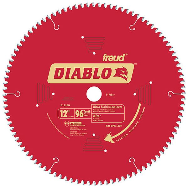 D1296N Diablo Wood/Laminate/Non-Ferrous/Plastics Blade, 12