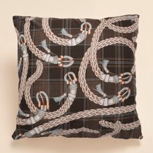 Braided Belt Print Cushion Cover Without Filler