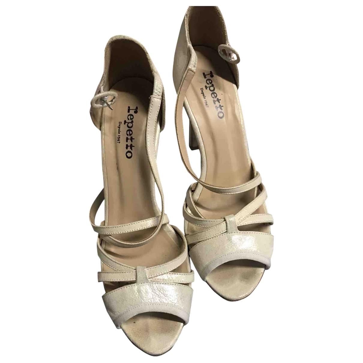 Repetto - Sandales   pour femme en cuir - beige