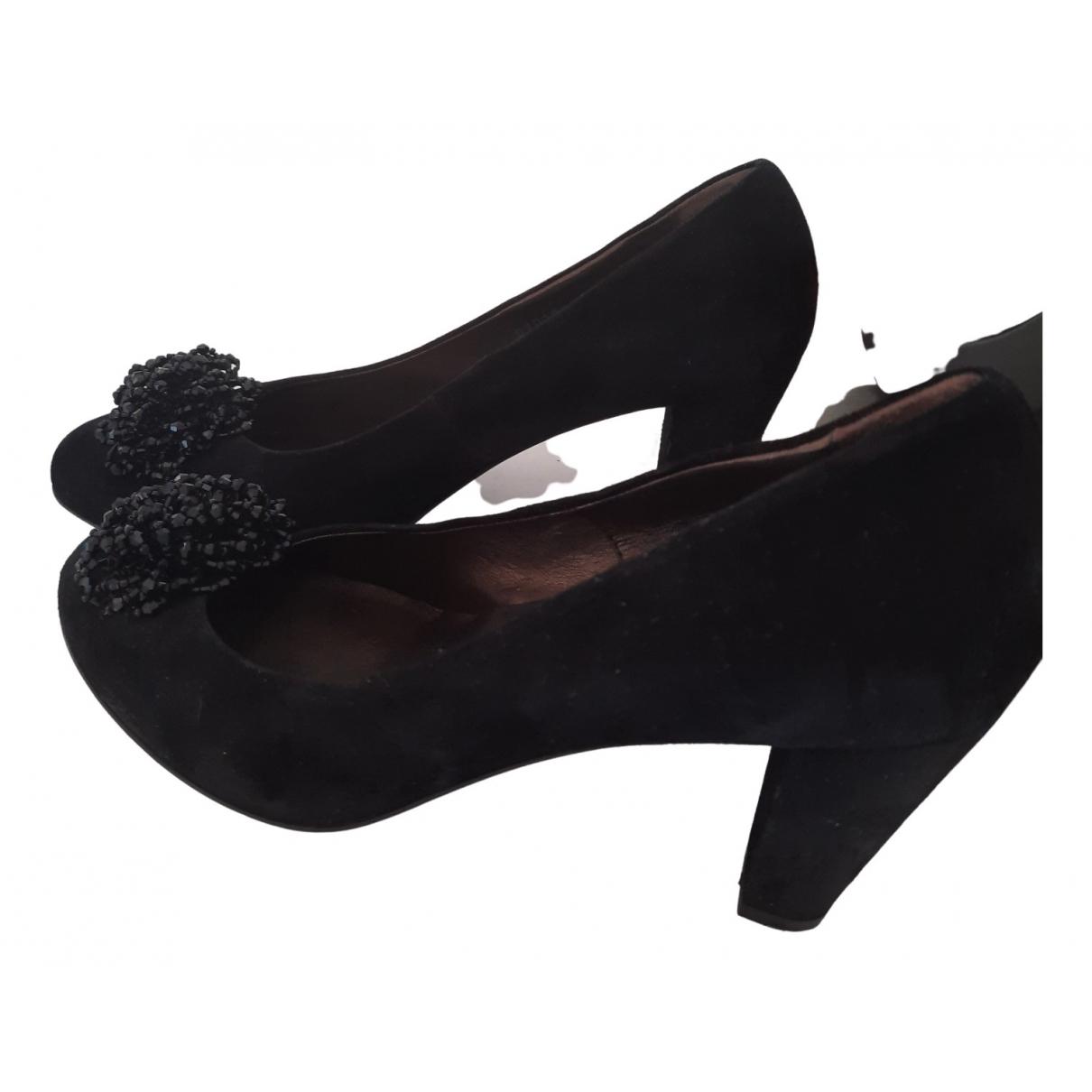 Agl \N Black Suede Heels for Women 39 EU
