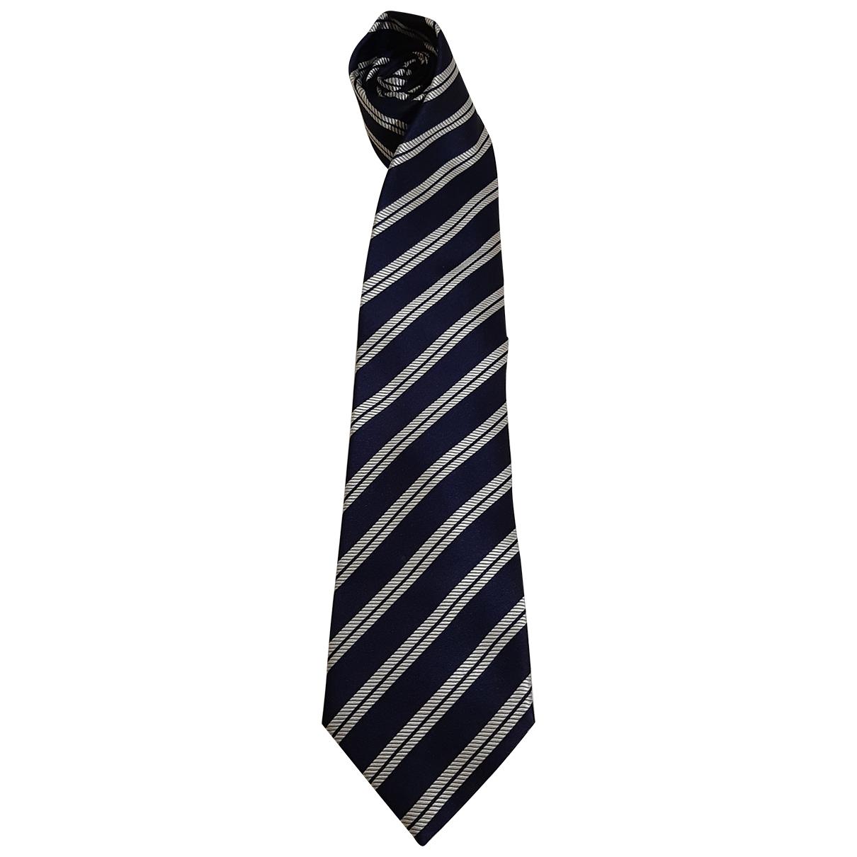 Borrelli \N Krawatten in  Blau Seide