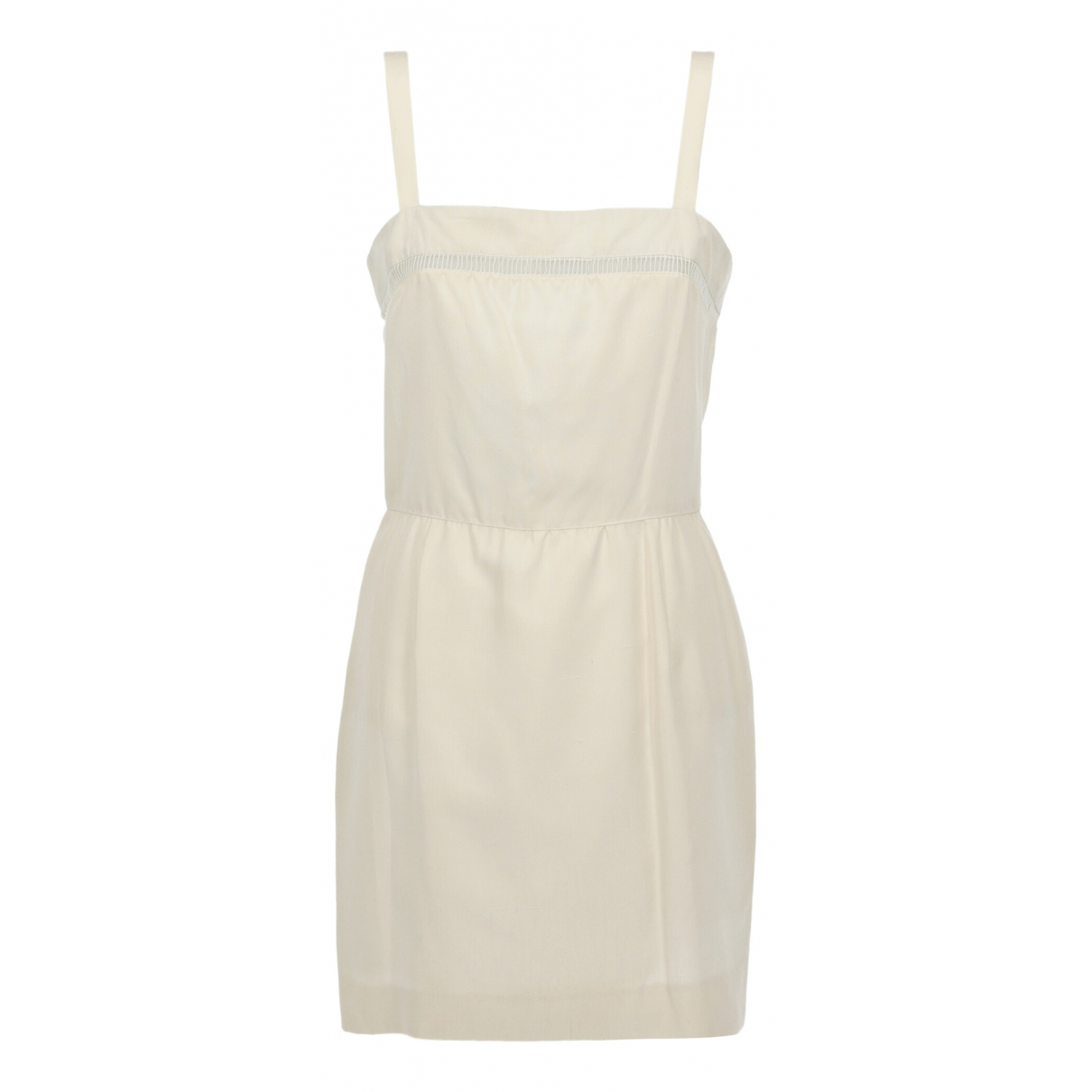 Valentino Garavani \N White Silk dress for Women 40 IT