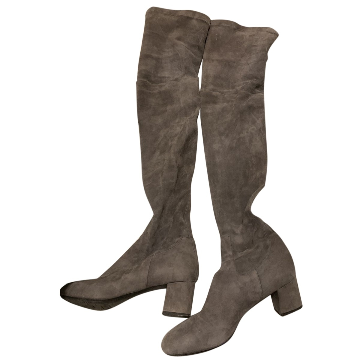 Santoni \N Leather Boots for Women 39 EU