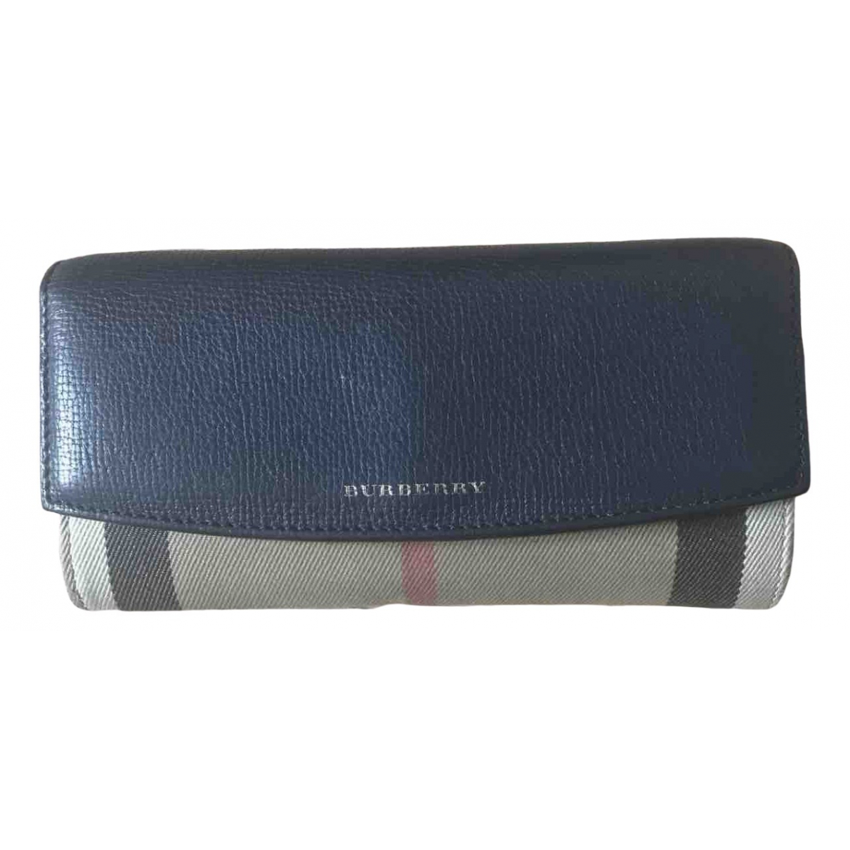 Burberry N Blue Leather wallet for Women N