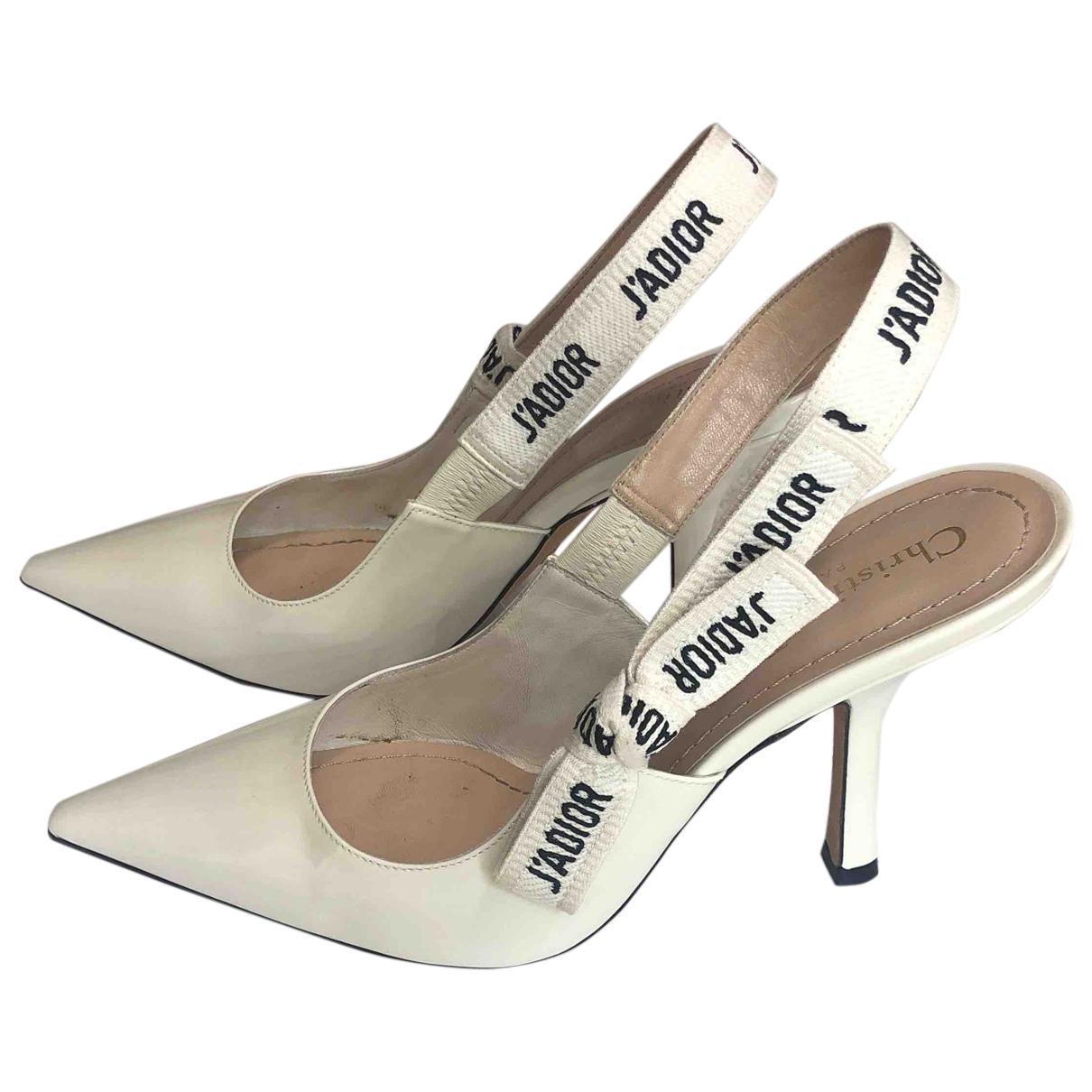 Dior - Escarpins D-Mesure pour femme en cuir - ecru