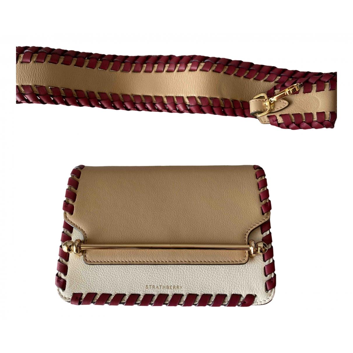 Strathberry \N Beige Leather handbag for Women \N