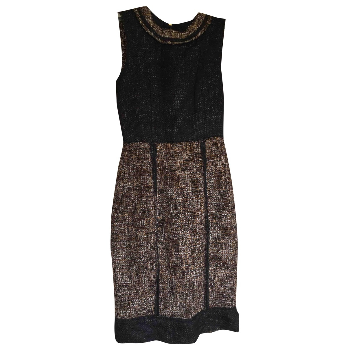 D&g \N Camel Tweed dress for Women 40 IT
