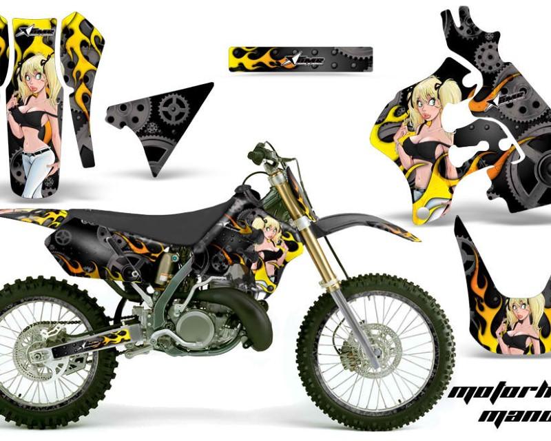 AMR Racing Graphics MX-NP-SUZ-RM125-96-98-MM K Kit Decal Sticker Wrap + # Plates For Suzuki RM125 1996-1998 MOTO MANDY BLACK