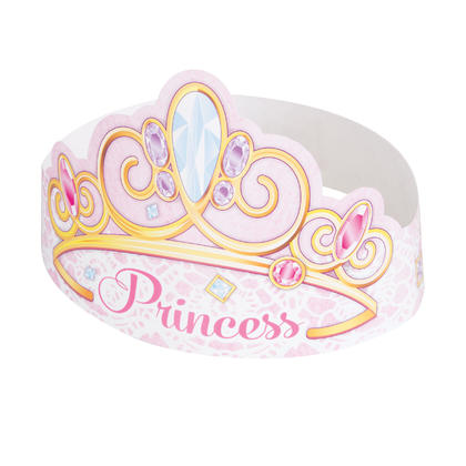 Pink Princess Tiaras, 6ct For Birthday Party