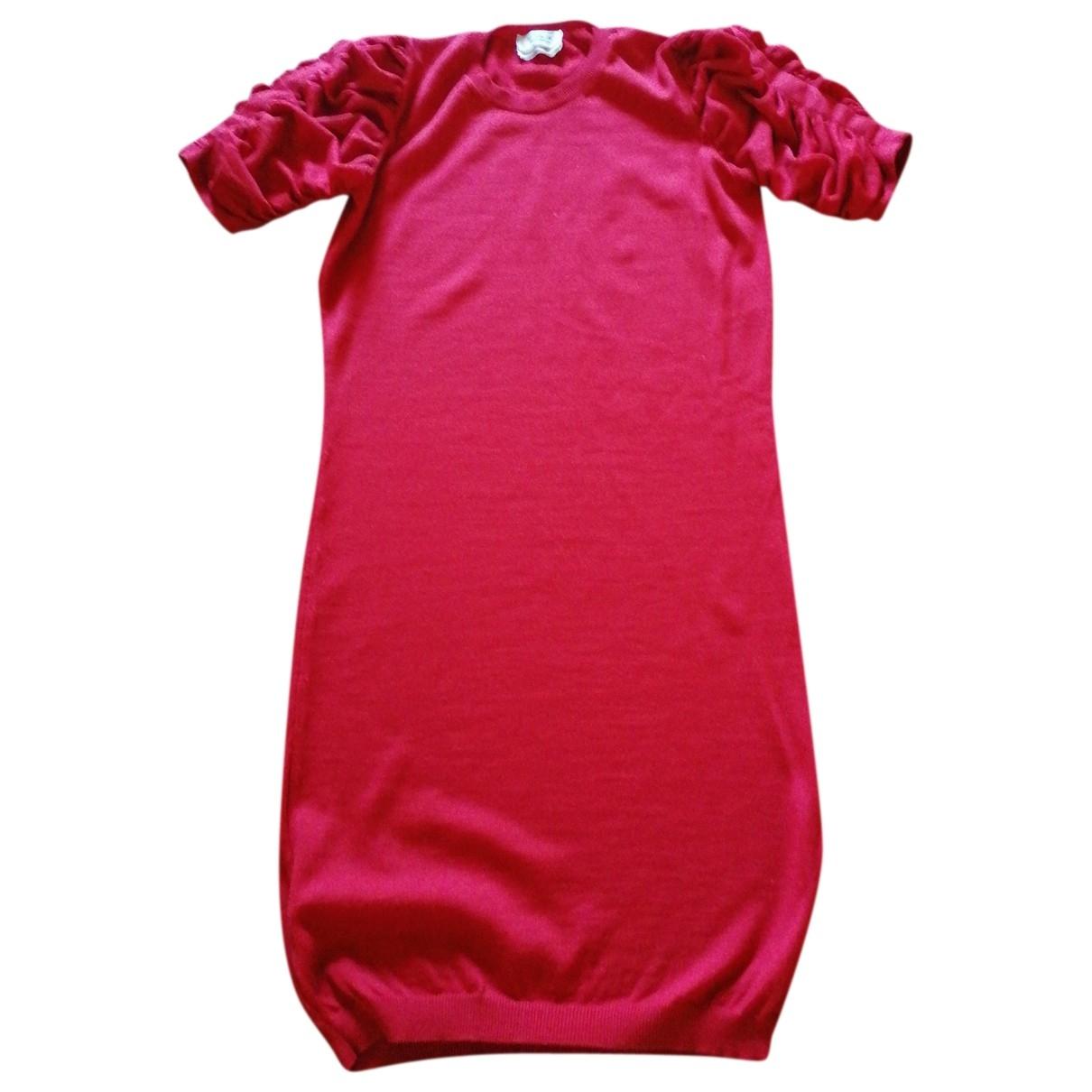 Yves Saint Laurent - Robe   pour femme en laine - rouge