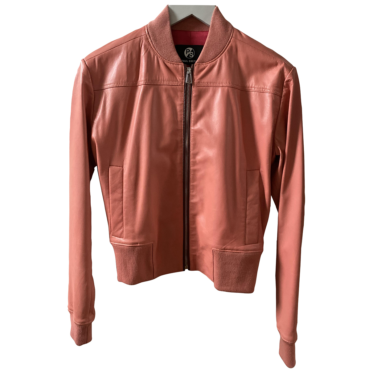 Paul Smith N Pink Leather Leather jacket for Women 36 FR