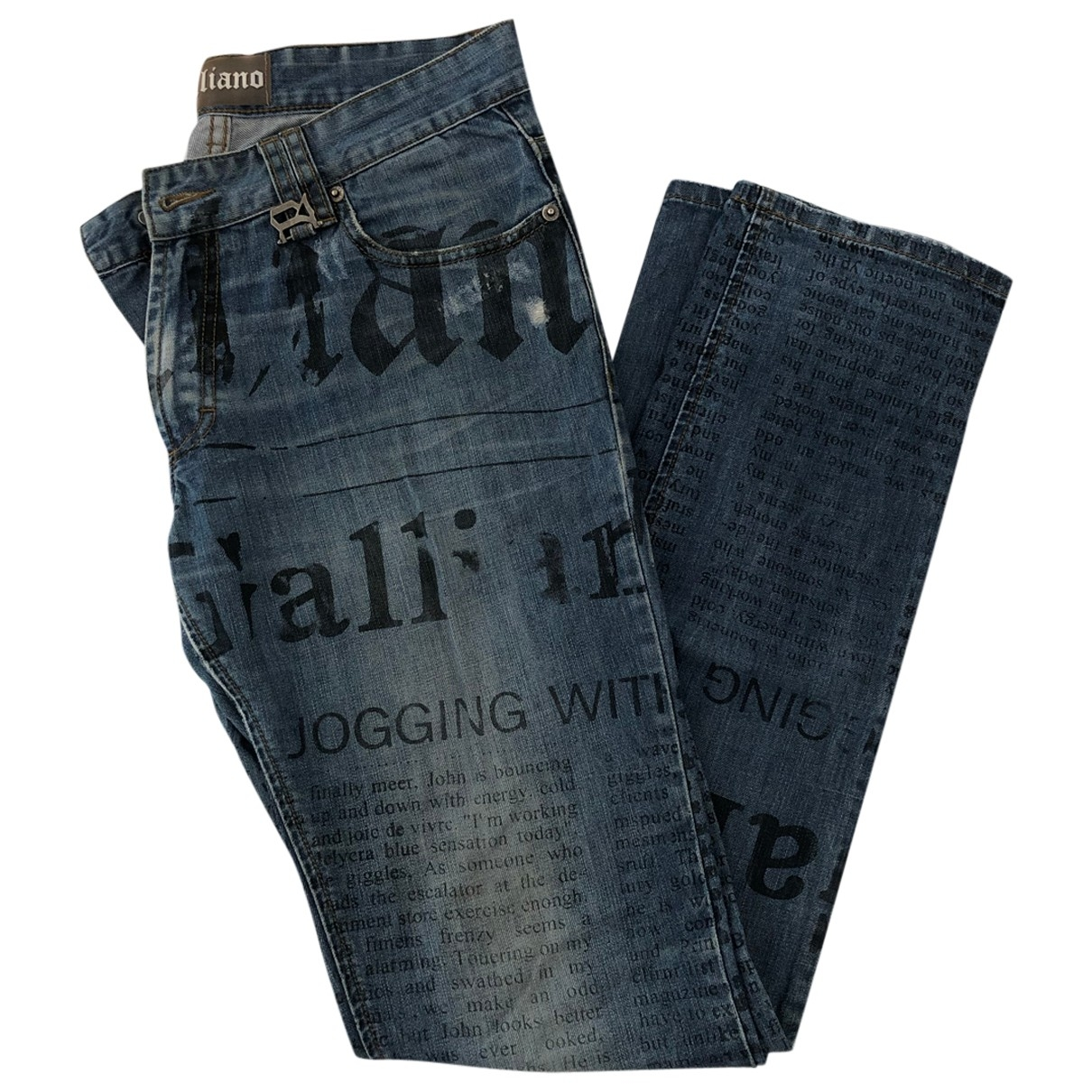 John Galliano \N Blue Cotton Jeans for Men 31 US