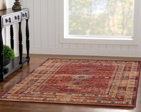 RUGSE1481 8 x 10 Rectangle Area Rug in